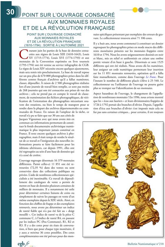 Ouvrage consacré aux monnaies royales et de la révolution française (1610-1794) Sans_t10