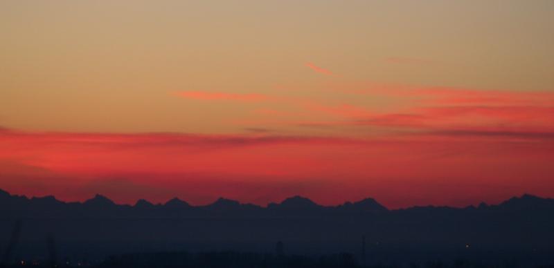 Les Alpes et la Forêt Noire ce matin Alpes111