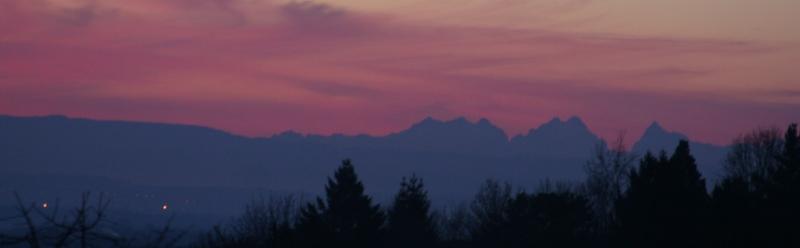 Les Alpes et la Forêt Noire ce matin Alpes211