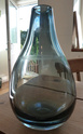 Smokey blue glass vase with mark ID= Modern Habitat Vase110