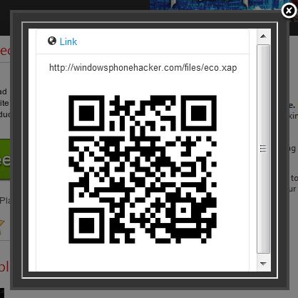 [INFO] Smart QrCode Generator : Une extension Google Chrome élaborée pour nos WP7 Qrcode13