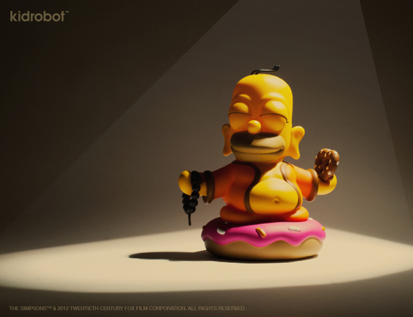 The Simpsons Homer Buddha toy - goofy Homer-10
