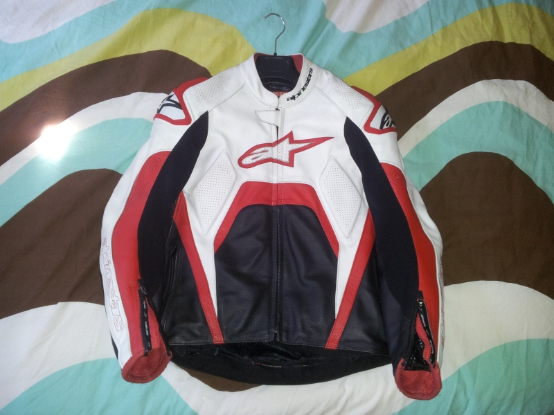 [VENDS] Blouson Alpinestars Tech 1-R Rouge/Blanc T50 20120910