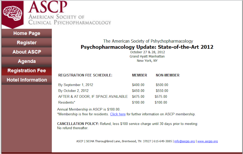 SAVE THE DATE! ASCP Fall 2012 CME Meeting Fee10