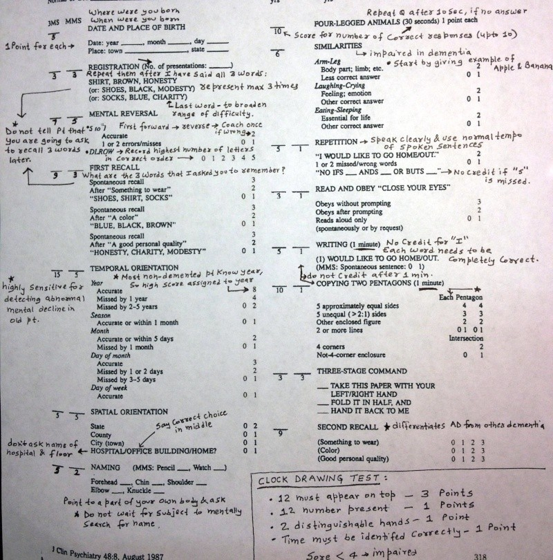 Modified Mini Mental State (3MS) & Clock Drawing Test (CDT) Modifi10