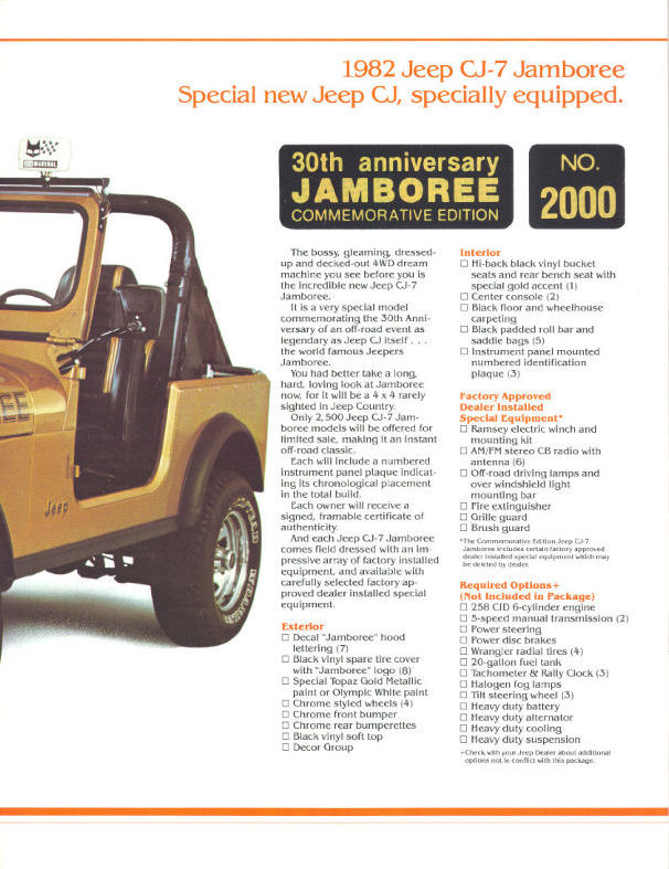 Jeep CJ7: différences entre versions 1982_j10