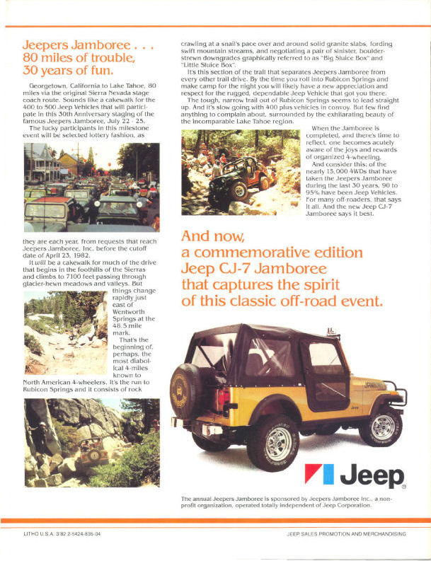 Jeep CJ7: différences entre versions 1982_j11