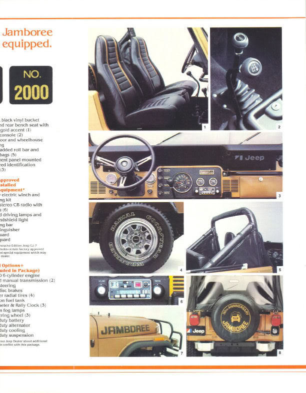 Jeep CJ7: différences entre versions 1982_j12