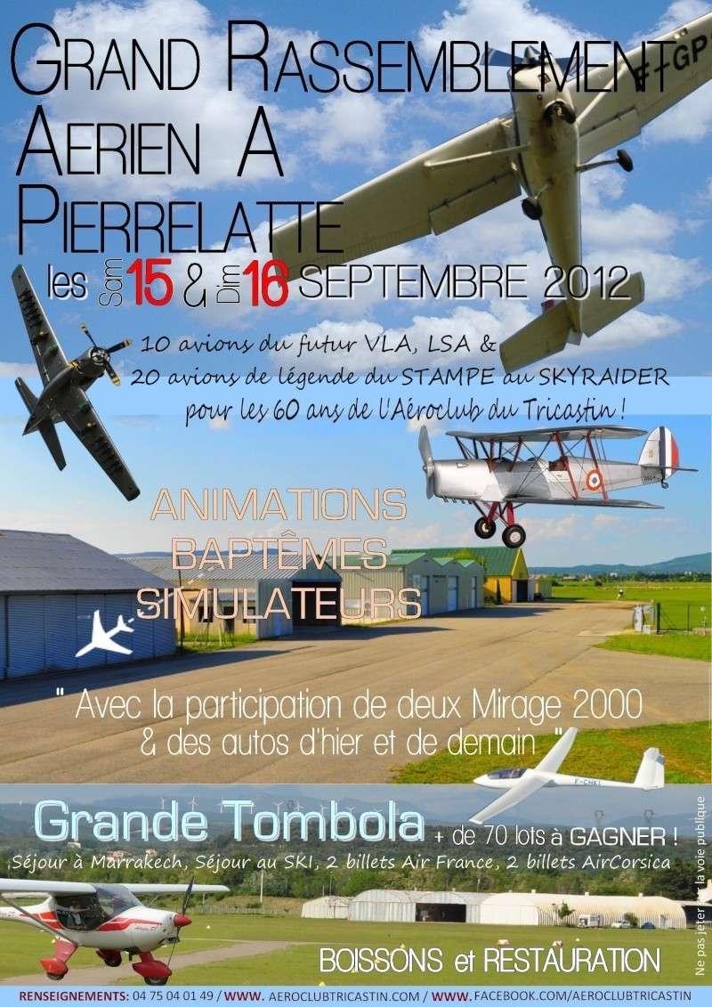 Grand Rassemblement Aérien le 15/16 sept 2012 à Pierrelatte Affich10