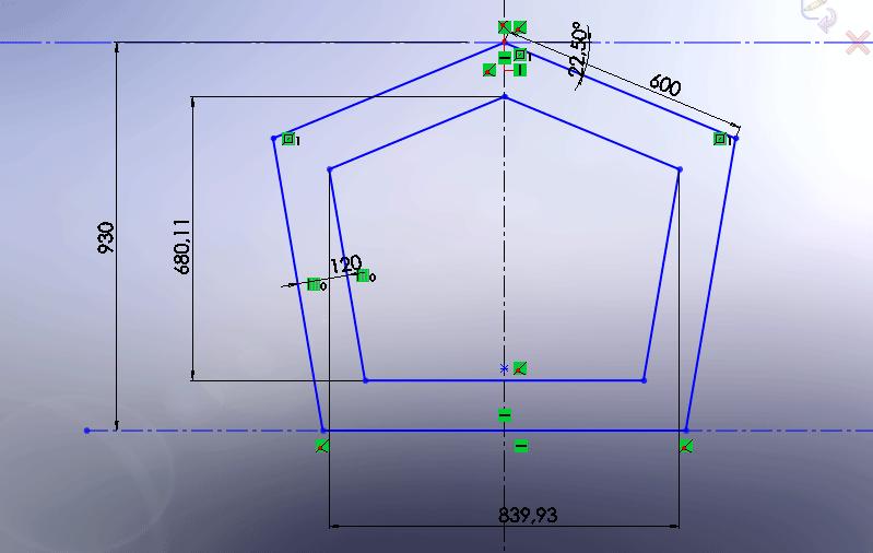 Table sur mesure en forme pentagone  Sans-t10