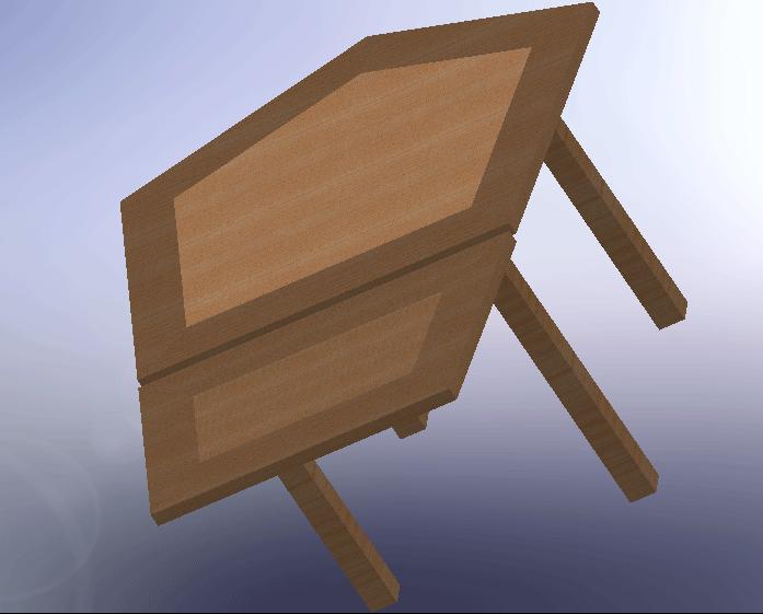 Table sur mesure en forme pentagone  Sans-t11