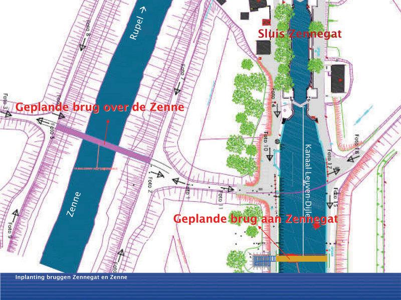 Canal Louvain-Dyle et Senne : construction des ponts cyclistes Nieuws11