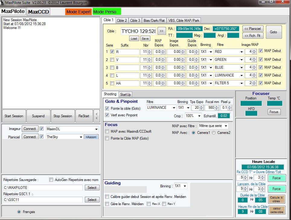 MaxPilote : Soft pour gérer vos soirées avec Maxim DL/FocusMax/Pinpoint/PHDGuiding - Page 3 Maxccd10