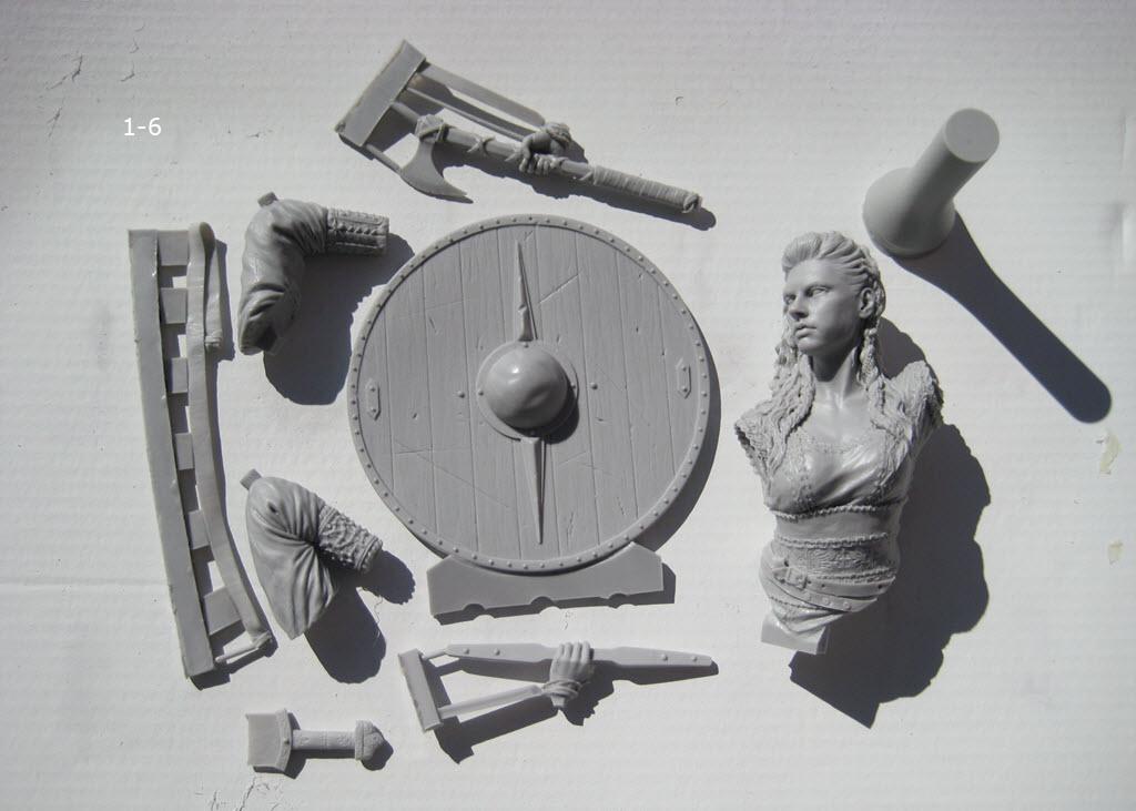 Like Lagertha (Shieldmaidens) Nuts Planet buste résine 1/10 1-610