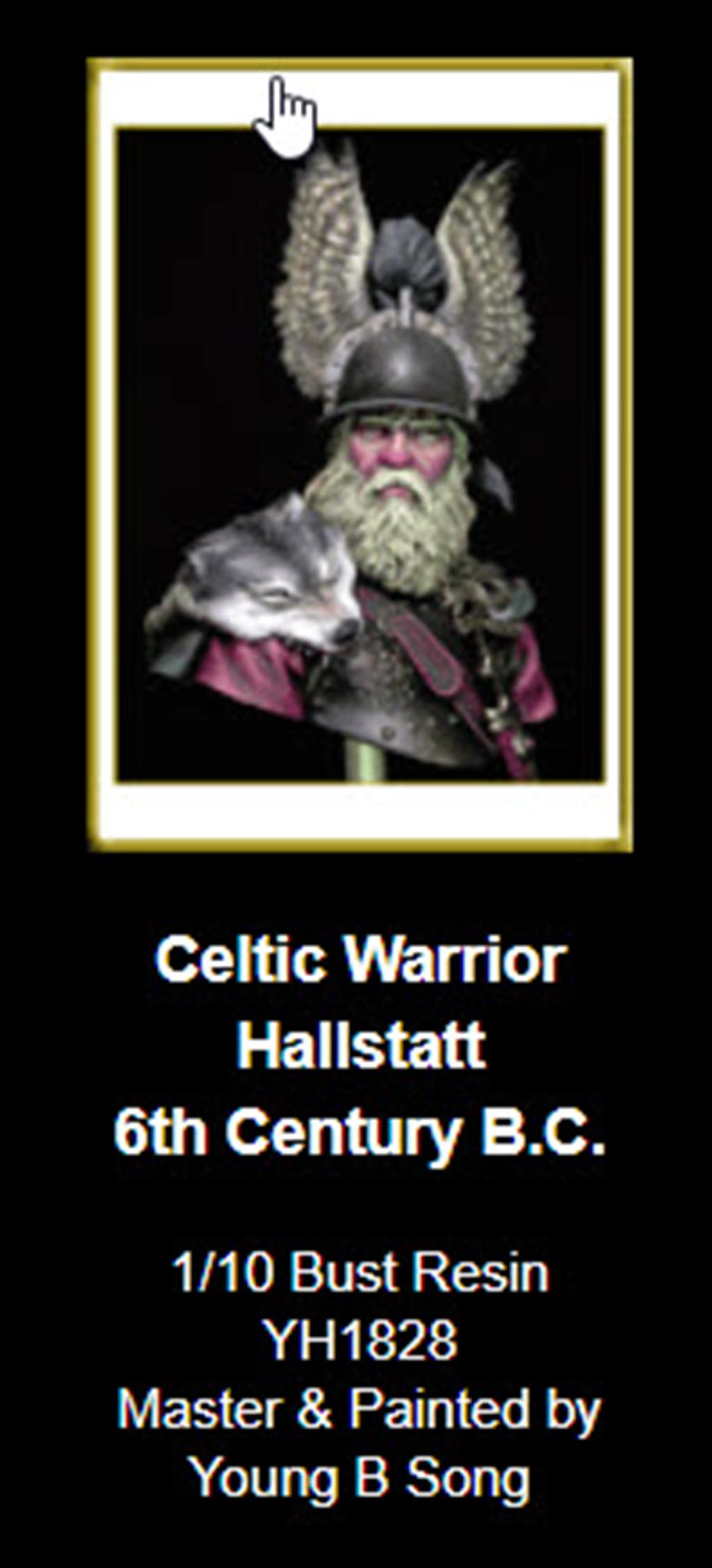 Hallstatt guerrier Celtic 6th B.C. buste Yong miniature 1/10 157