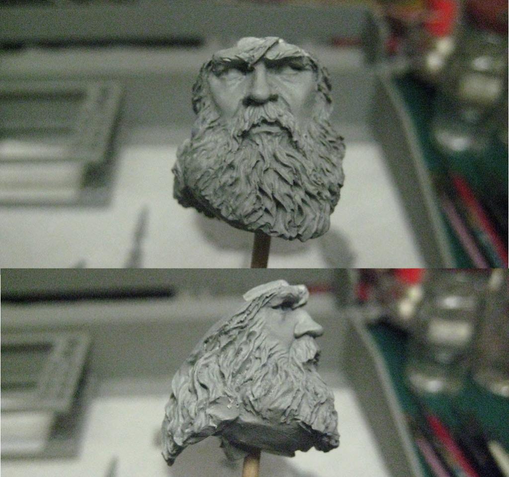 Hallstatt guerrier Celtic 6th B.C. buste Yong miniature 1/10 158