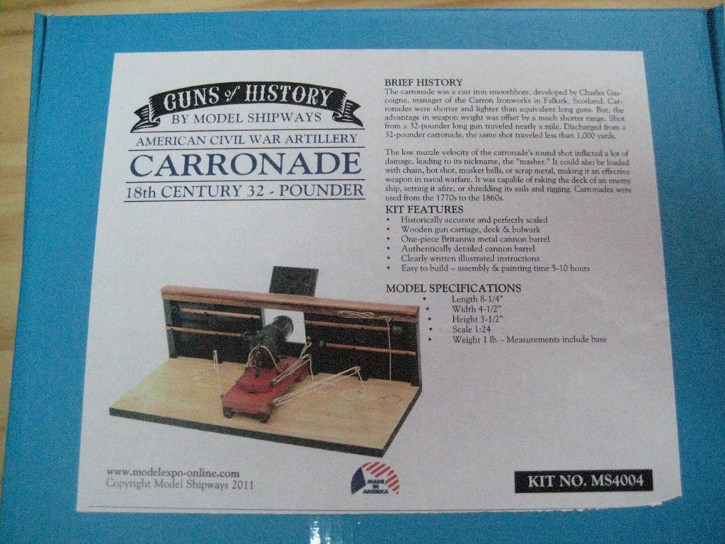 Carronade 32 Pounder Guns of History Modèle Shipways MS4004 1_a12