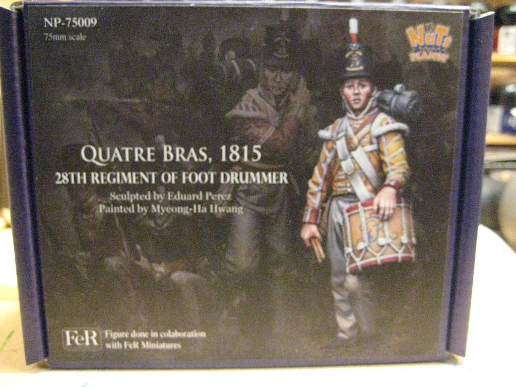 Tambour 28em régiment a pieds (Anglais) Figurine Nuts Planet 75mm (NP-75009) 1a106