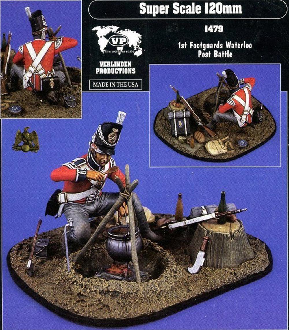 1st Footguard  Après la bataille Waterloo Verlinden 120mm 1a112