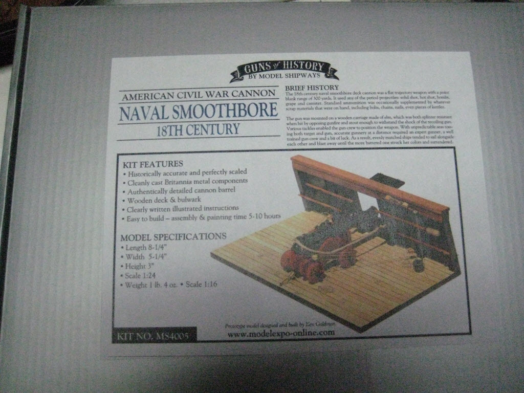 Naval Smoothbore Guns Of History Model Shipways MS4005 1a119