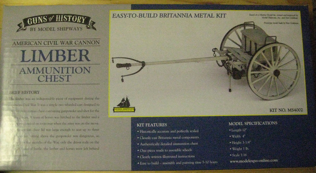Limber Ammunition Chest 1:16 Model Shipways kit MS4002 1c89