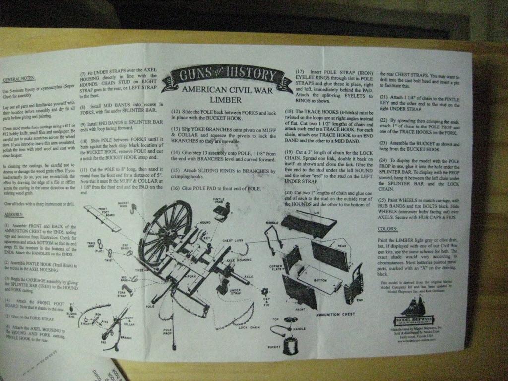 Limber Ammunition Chest 1:16 Model Shipways kit MS4002 1d60