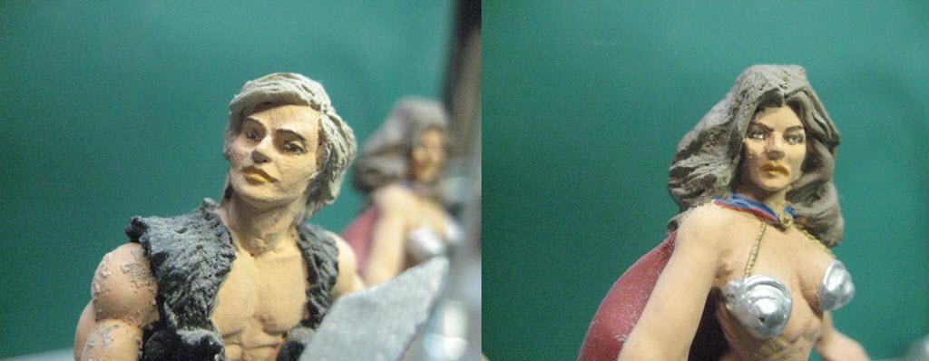 Figurine 80mm fantaisie d'après illustration de Boris Vallejo 1d63
