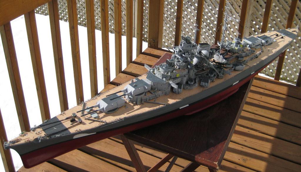 Bismarck 1/200 scale Hachette 1h12