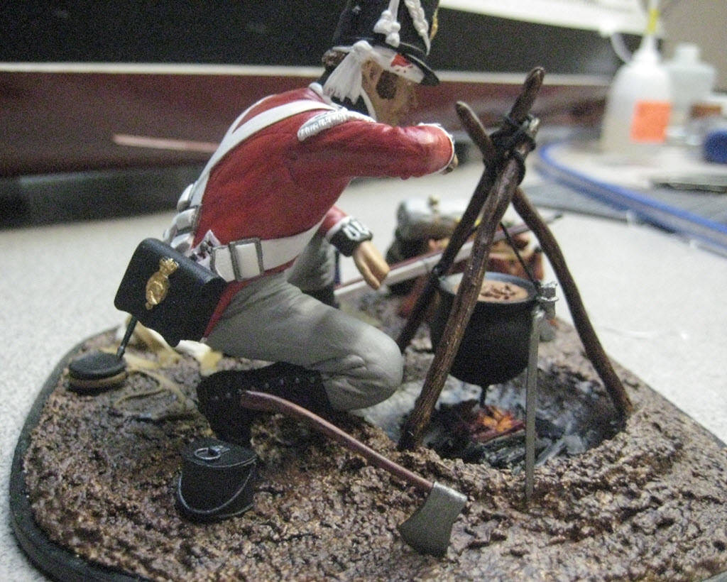 1st Footguard  Après la bataille Waterloo Verlinden 120mm 1h14