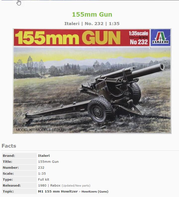 155mm Gun 1:35 Italeri 2116