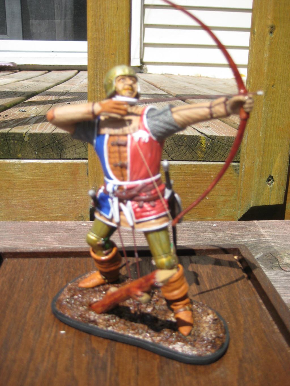 Archer médieval Anglais 1582 Verlinden 120mm 244