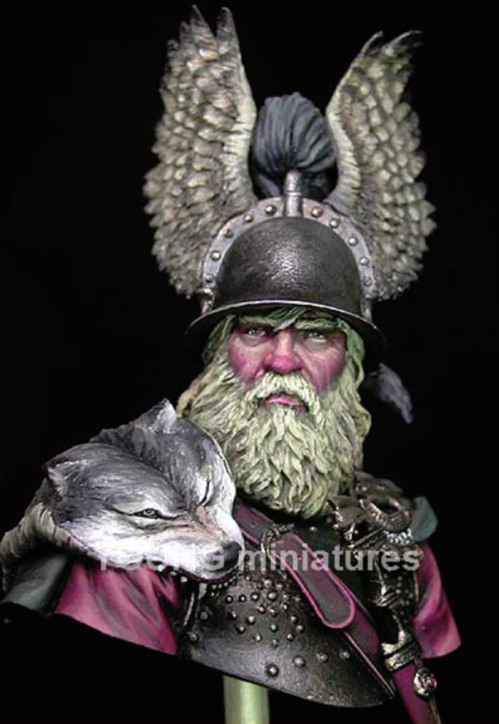 Hallstatt guerrier Celtic 6th B.C. buste Yong miniature 1/10 256