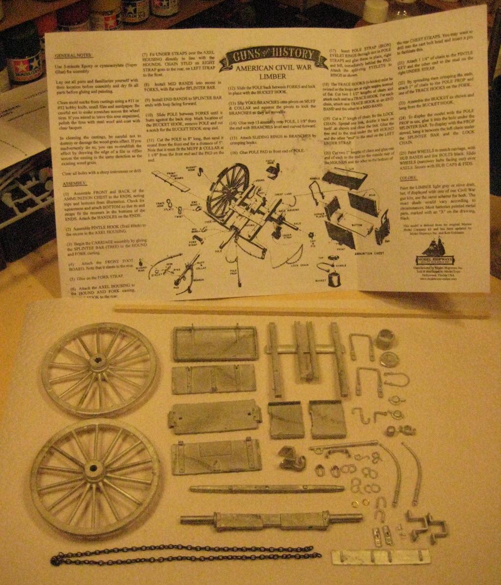 Limber Ammunition Chest 1:16 Model Shipways kit MS4002 2a12
