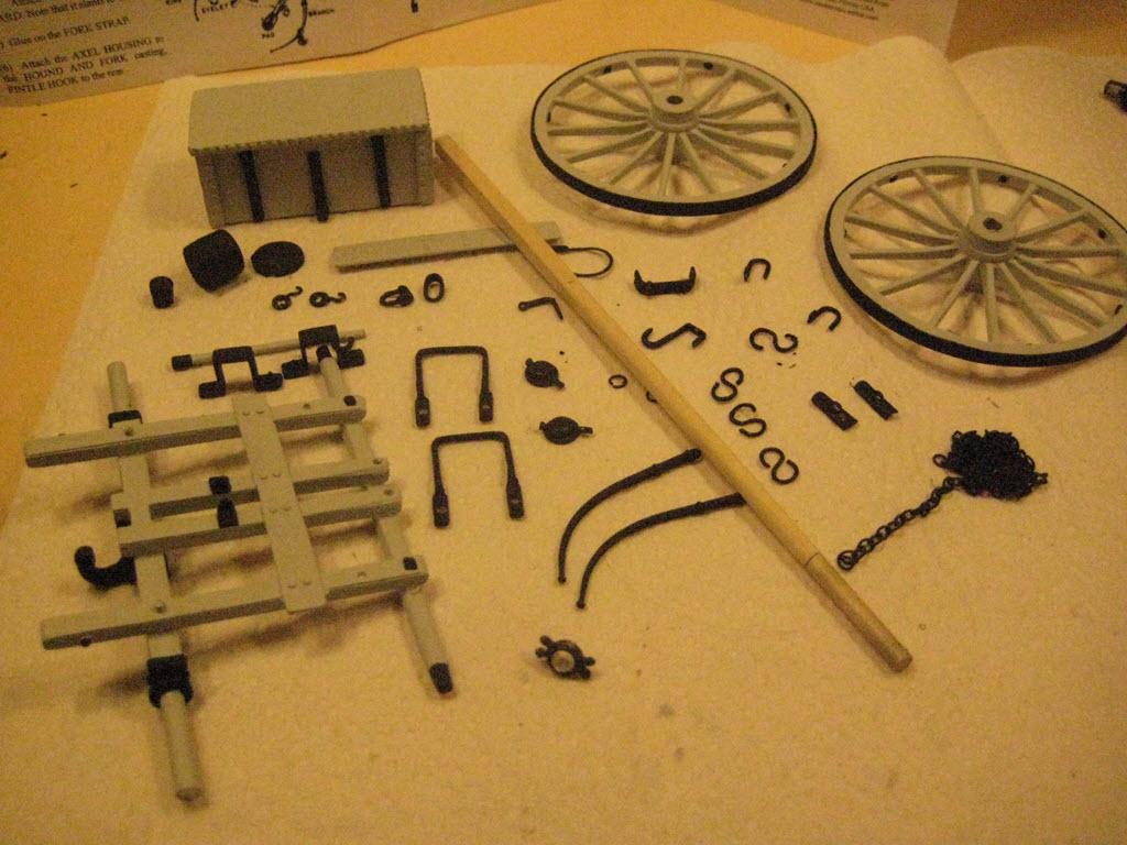 Limber Ammunition Chest 1:16 Model Shipways kit MS4002 2b12