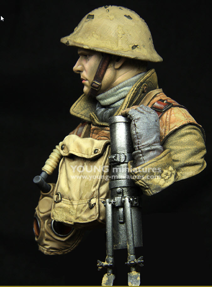 British Lewis gunner WWI Young figurine 3101