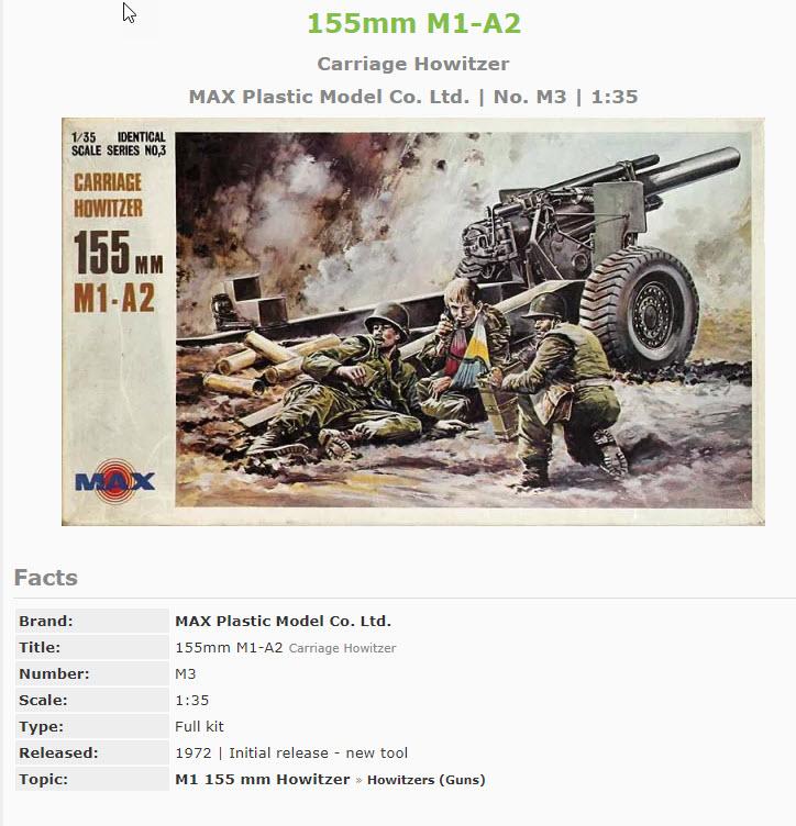 155mm Gun 1:35 Italeri 3112