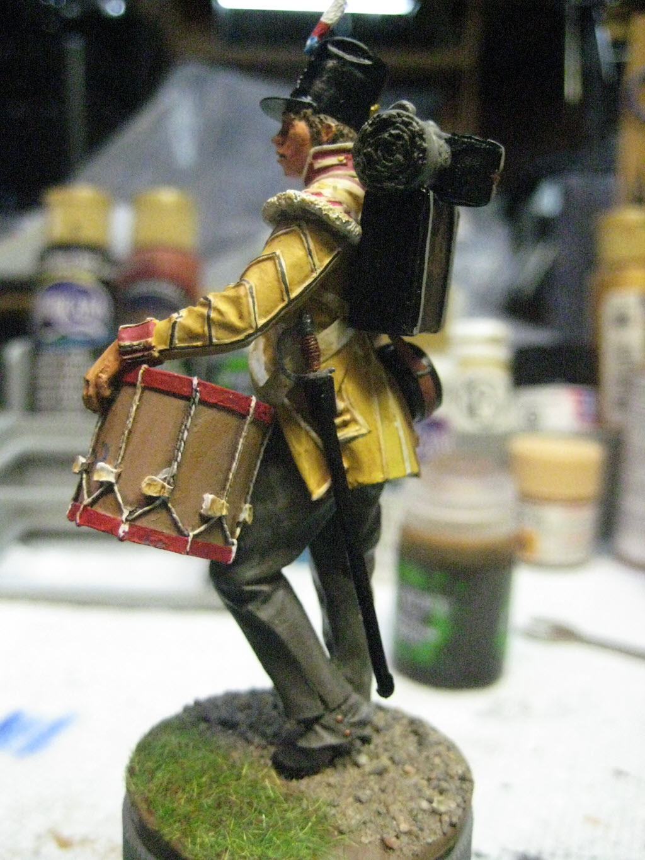Tambour 28em régiment a pieds (Anglais) Figurine Nuts Planet 75mm (NP-75009) 349