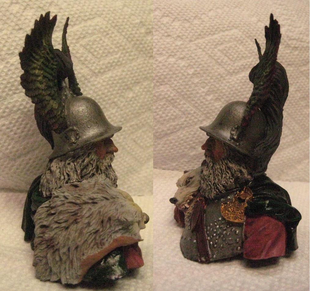 Hallstatt guerrier Celtic 6th B.C. buste Yong miniature 1/10 362