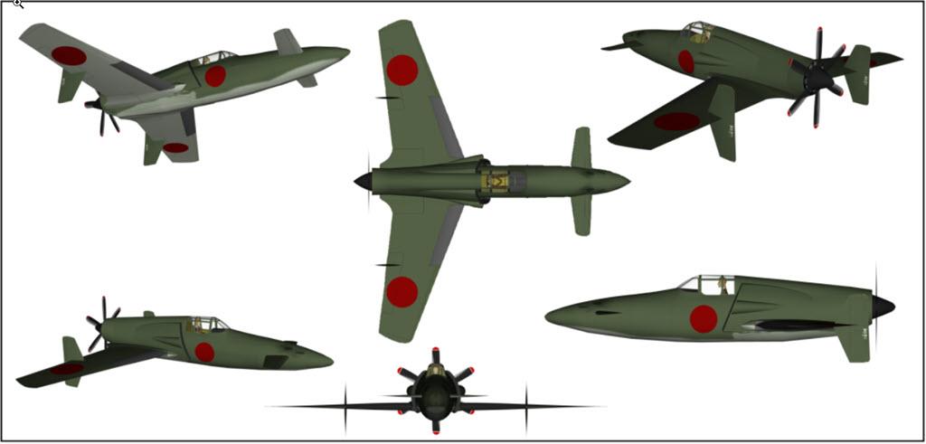 Shinden Kyüshü J7wi Hasegawa 1/48 478