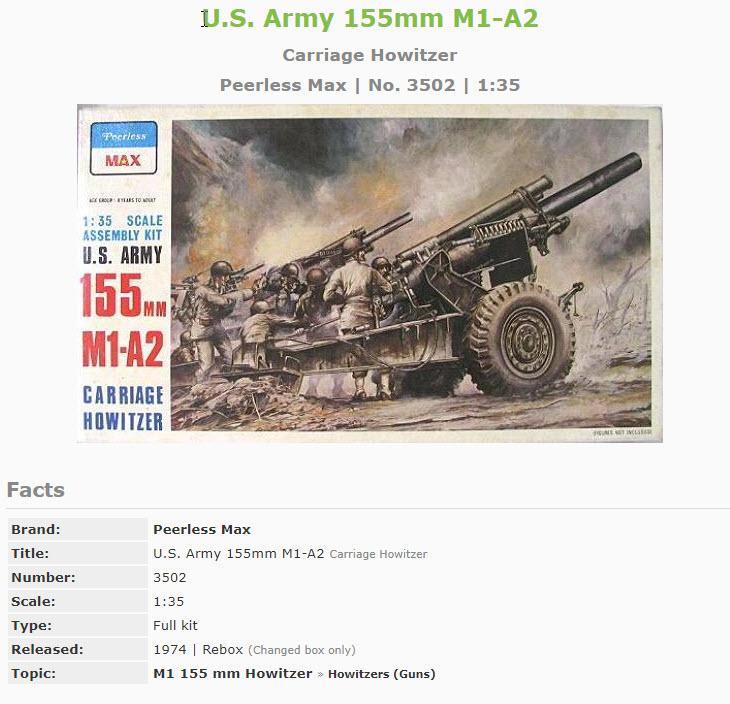 155mm Gun 1:35 Italeri 494