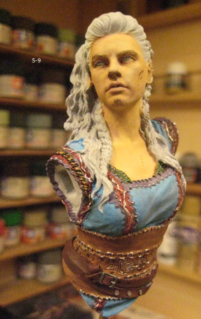 Like Lagertha (Shieldmaidens) Nuts Planet buste résine 1/10 5-910