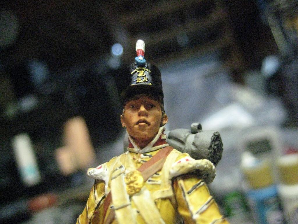 Tambour 28em régiment a pieds (Anglais) Figurine Nuts Planet 75mm (NP-75009) 540