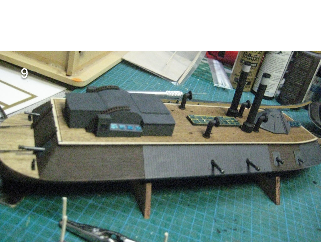 USS Cairo 1862 kit BlueJacket kit K1111 1/16'' au pieds 1:192 625