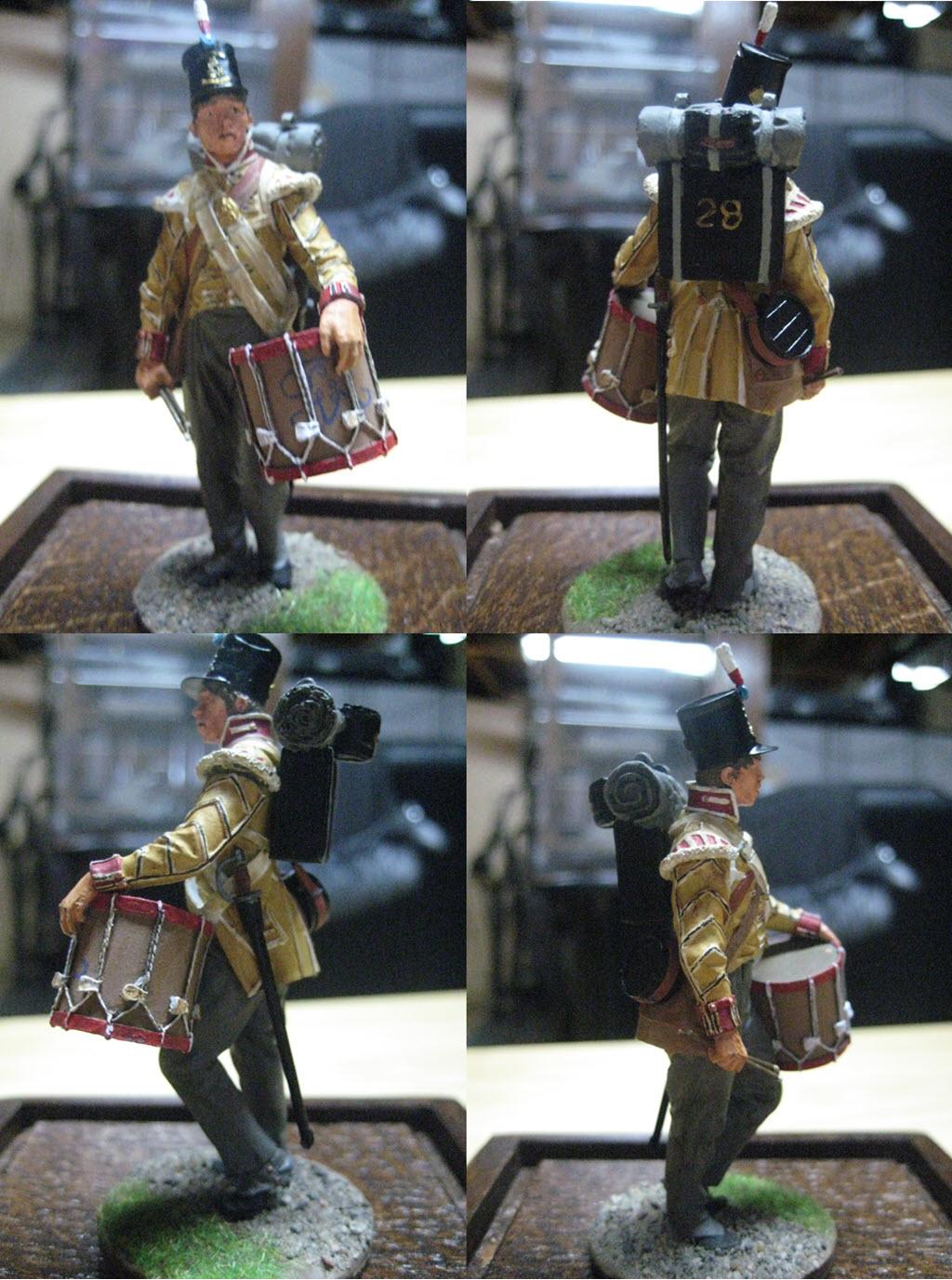 Tambour 28em régiment a pieds (Anglais) Figurine Nuts Planet 75mm (NP-75009) 631