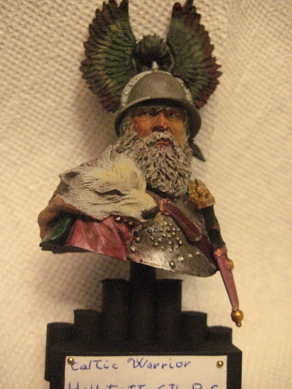 Hallstatt guerrier Celtic 6th B.C. buste Yong miniature 1/10 730