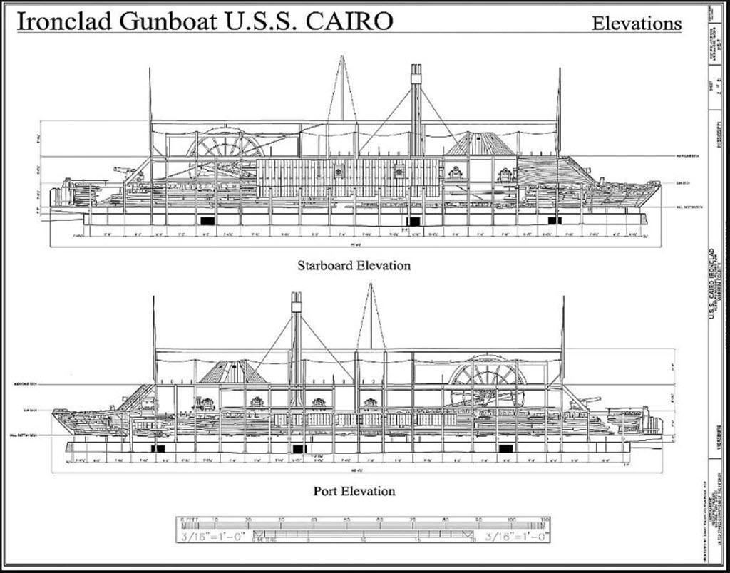 USS Cairo 1862 kit BlueJacket kit K1111 1/16'' au pieds 1:192 817
