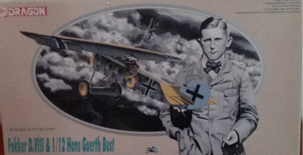 Dragon série (Knight of the Sky) Hans Goerth buste 1/12  Fokker D.VIII 1/48 Hg_110