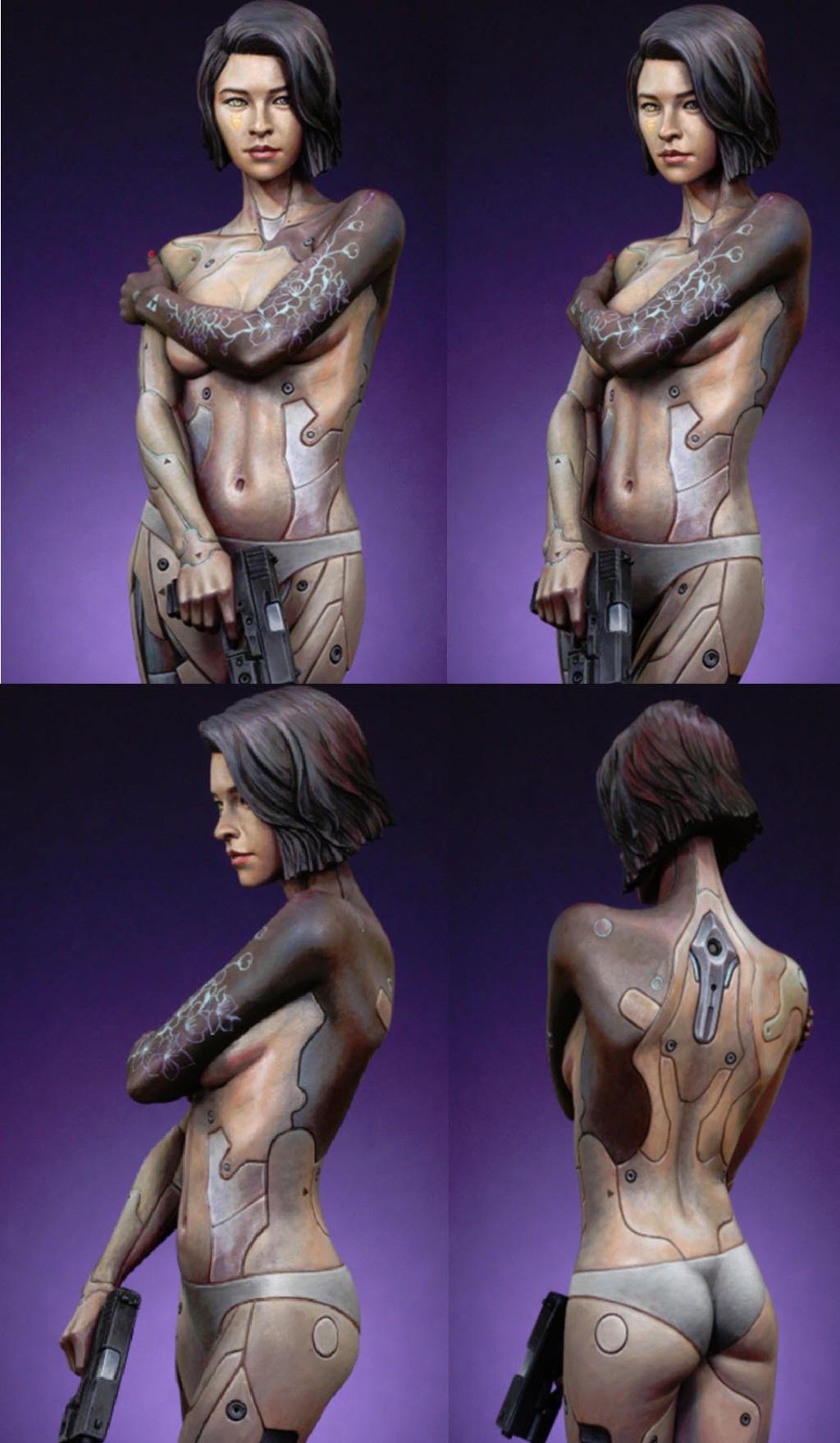 Mirai buste cyborg assassin Life miniature 1/12 M410