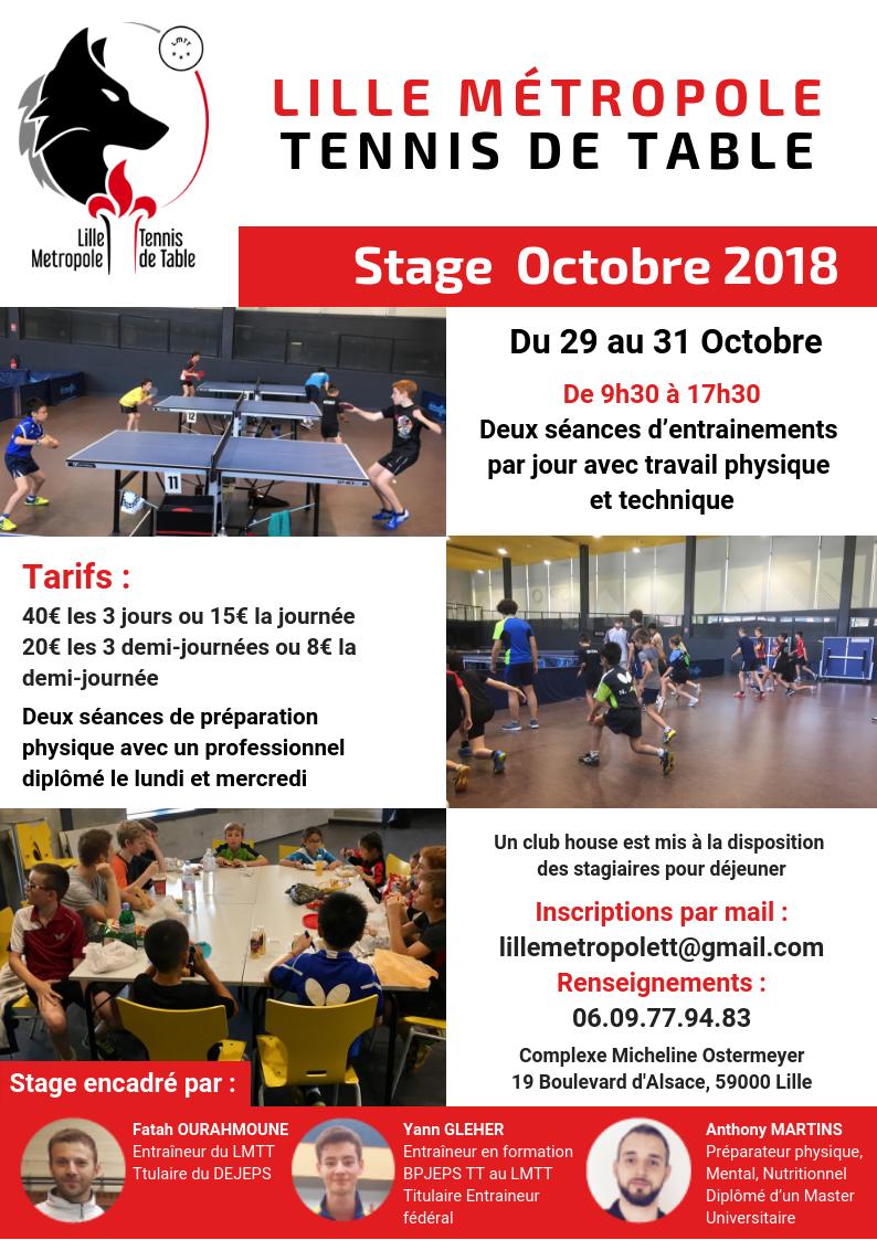 Stage du 29 au 31 octobre à Lille Affich10
