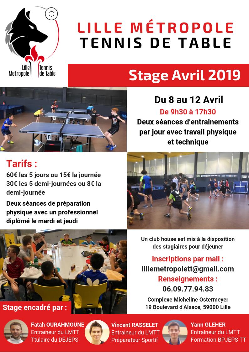 Stage à Lille du 8 au 12 avril Affich14